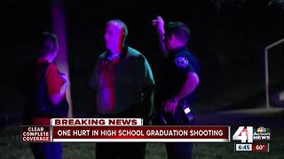Student shot at Center High School graduation ceremony - Video