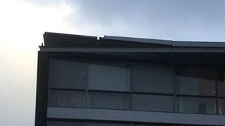 Roof of Building Lifted by Strong Gusts as Netherlands Hit by Storm - Video