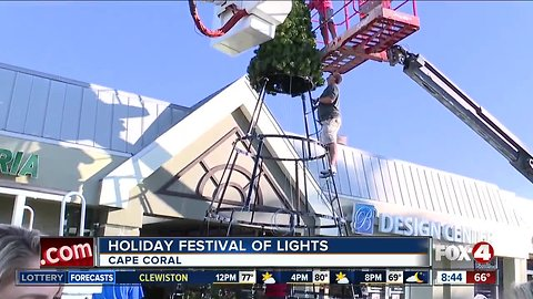 Crews get ready for Cape Coral's Holiday Festival of Lights - 8:30am live report