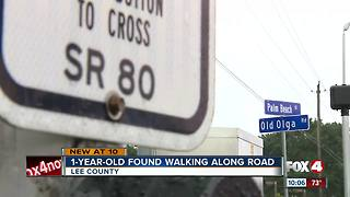 1-year-old found wandering along road