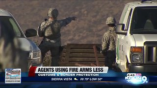 Border agents using firearms less