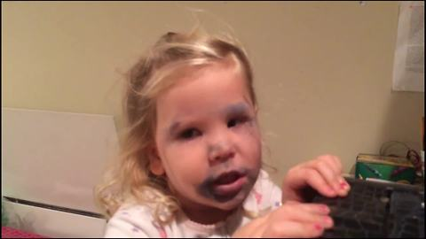 Stealing Mommy's Makeup