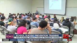 State funding impacts school suicide prevention trainings