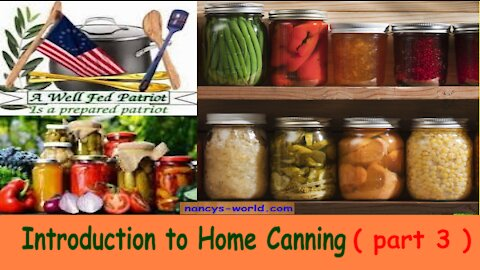 Introduction To Home Canning ( part 3 ) Pressure Canning