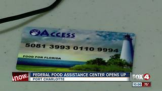 Federal Food Assistance Center Opens - Video
