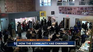 How has the Sherman Park community changed in the last three years
