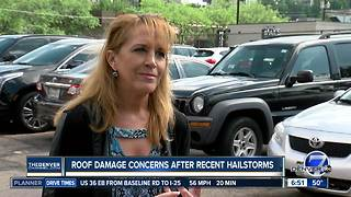 Roof damage concerns after recent hailstorms - Video