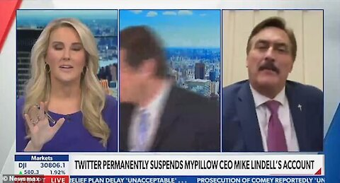 NEWSMAX TRIES TO STIFLE MIKE LINDELL, ANCHOR WALKS OFF SET