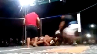 MMA Fighter's Cornerman ATTACKS Opponent After Referee Refuses to Stop Fight - Video