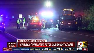 Passenger killed, driver hurt in I-471 crash