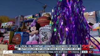 Employees of Sentinel Peak Resources donate hundreds of toys for CHP Toy Drive - Video