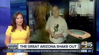 The Great Arizona Shake Out: How to prepare for an earthquake in AZ - Video