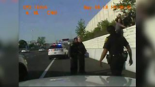 Dashcam video: Suspect struggles with police on I-75 - Video