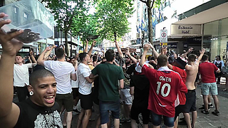 England World Cup Football Fans Interrupt Beatboxer In Birmingham  - Video