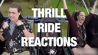 Hilarious Thrill Ride Reactions - Video