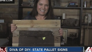 Diva of DIY: state pallet signs - Video