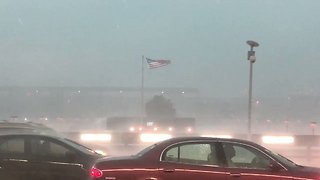 Storm Brings High Winds and Heavy Rain to Dulles Airport
