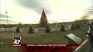 Tree Reopens After Man climbs National Christmas Tree