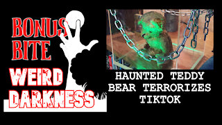 "#BonusBite ""HAUNTED TEDDY BEAR TERRORIZES TIKTOK"" #WeirdDarkness"