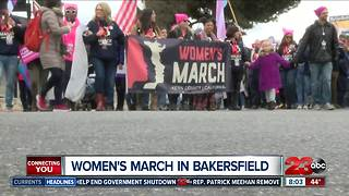 Thousands flood downtown Bakersfield streets for Women's March Kern County - Video