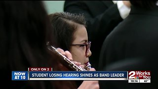 Edison High student losing hearing shines as band leader