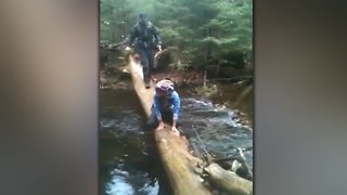 Man Walks The Plank, Falls In The Water! - Video
