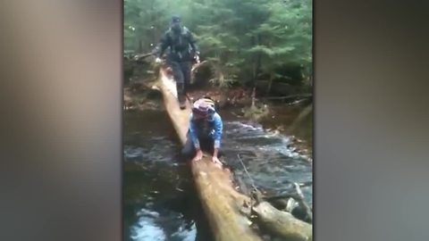 Man Walks The Plank, Falls In The Water!