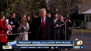 President denies collusion with Russia