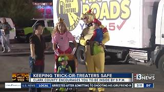Clark County wants to keep kids safe on Halloween - Video