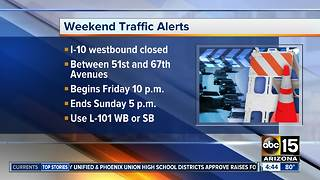 Weekend traffic closures - Video