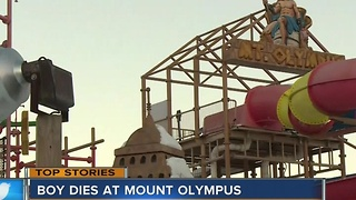 Boy dies after falling off Mt. Olympus water slide - Video