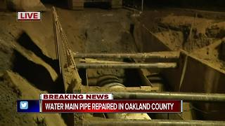 Replacement pipe installed in Oakland County - Video