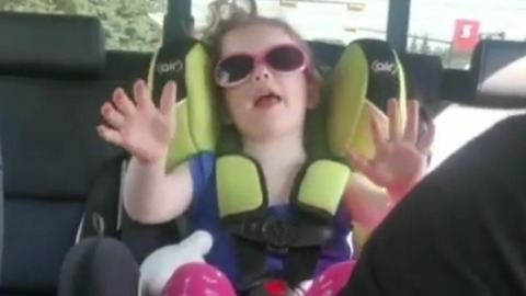 Little Girl Tells Dad To Take A Deep Breath To Calm Down