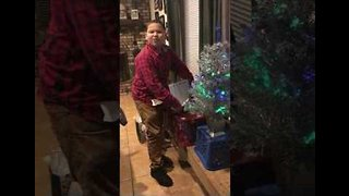 'No You Didn't!' - Boy Has Sweetest Reaction to Surprise Christmas Gift