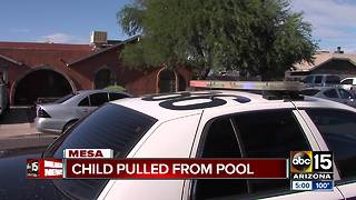 Child pulled from pool in Mesa, unresponsive - Video