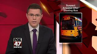 Suspect arrested after stealing school bus from Jackson County district - Video