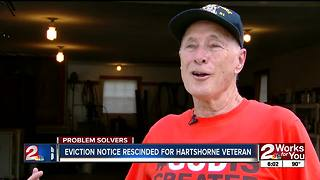 Hartshorne veteran could be allowed to stay on property - Video