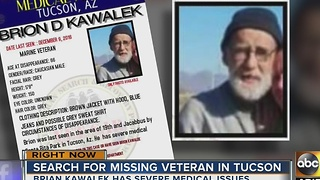 Police are searching for a missing veteran in Tucson - Video