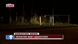 Newborn baby found abandoned near Tampa intersection - Video