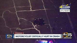 Motorcyclist seriously hurt in crash at 40th Street and Cactus Road