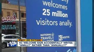 Welcome sign contains an unfortunate typo? - Video