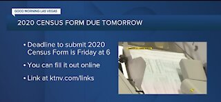 U.S. Census officially ends tomorrow