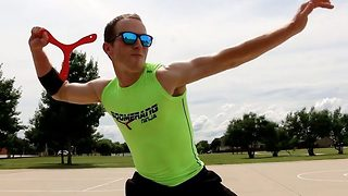 Incredible next level boomerang trick shots