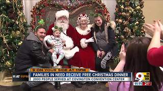 Families in need receive free Christmas dinner - Video
