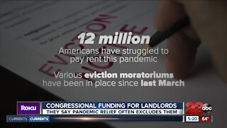 Congressional funding for landlords, they say pandemic relief often excludes them