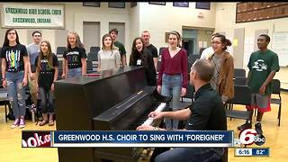 Greenwood High School choir to sing with 'Foreigner' - Video