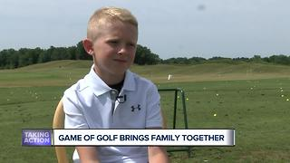 Golf brings father, son together - Video