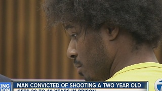 Man convicted in shooting of two-year-old - Video