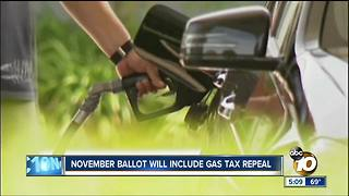 Gas tax repeal qualifies for November ballot - Video