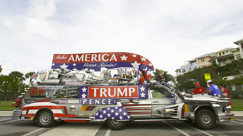 President Trump Devotees Build Outrageous Trump Mobile